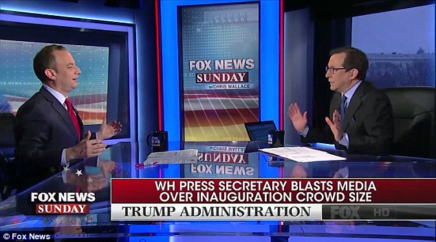 Priebus got into a heated exchange with Fox News anchor Chris Wallace when he was asked about the incorrect claims made by Trump team regarding the size of the inauguration crowd