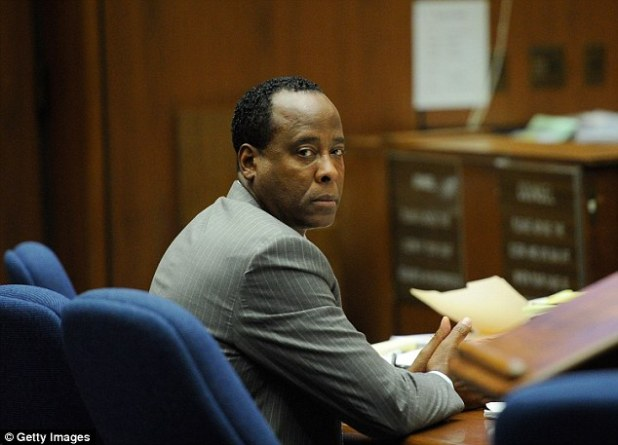 Jackson's personal physician Dr Conrad Murray was later convicted of involuntary manslaughter and sentenced to four years in prison over his death in 2011