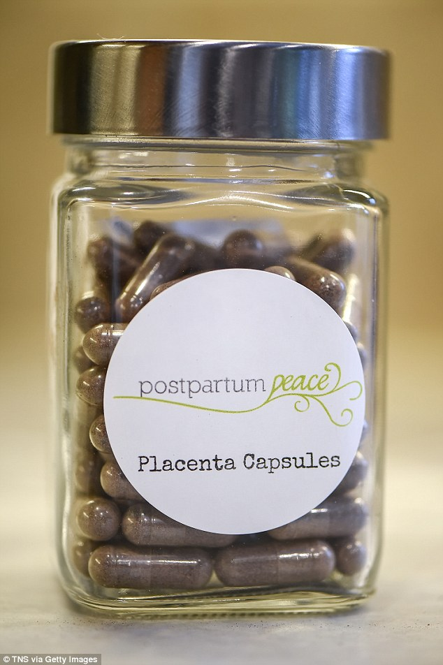 Shortly after birth, the mother's placenta is freeze-dried and turned into capsules, which can then be taken orally