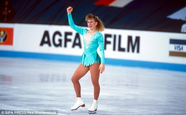 Golden girl: arrived on the figure skating scene in a big way in the late 1980s (above in 1991 at Skate America)
