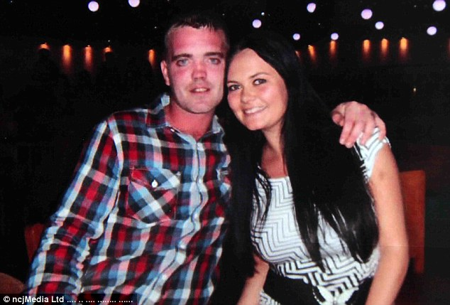 Tony is pictured with his partner of 12 years Karen before the accident in 2014, when he lost control of his car in his hometown of Chester-le-Street