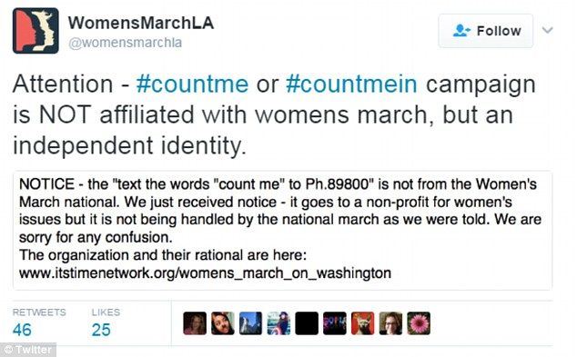 All gone wrong: Amid questions over whether the census was official, one version of the march warned it was not part of their effort