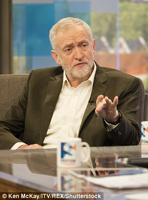 Jeremy Corbyn, pictured on ITV's Peston on Sunday, led the UK protests against the President's shock executive order that prevents anyone entering the US from seven Muslim majority countries for 90 days