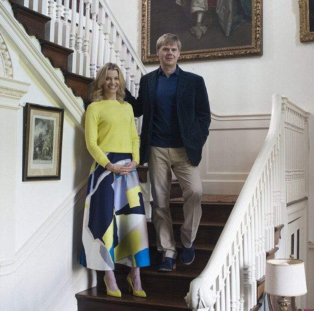Six years after taking his last dose of antidepressants, Luke Montagu (right) is still suffering from their effects. Here, he is pictured with his wife Julie