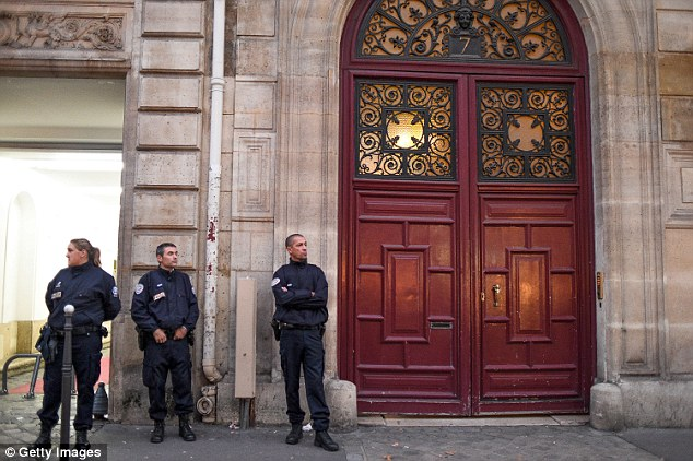 Two of the suspects - the only two Kim will be able to identify - are accused of breaking into the reality TV star's Paris apartment block (pictured)