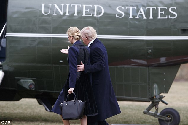 Trump and his eldest daughter, Ivanka, arrived at Dover Air Force Base this afternoon, after making the short flight to Delaware from Washington, to receive the body of Chief Petty Officer William 'Ryan' Owens