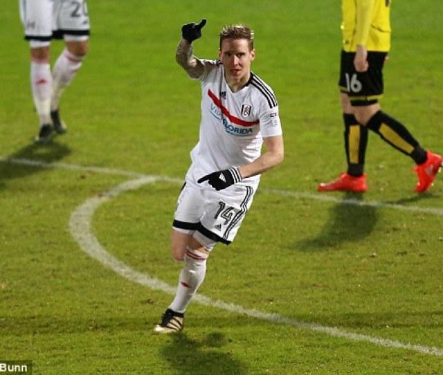 Stefan Johansen Celebrates After Breaking The Deadlock During The Championship Clash