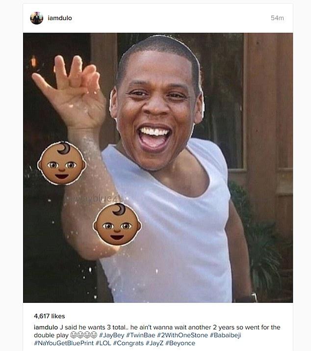 Creative: One fan put a Jay Z twist on the now famous Salt Bae meme