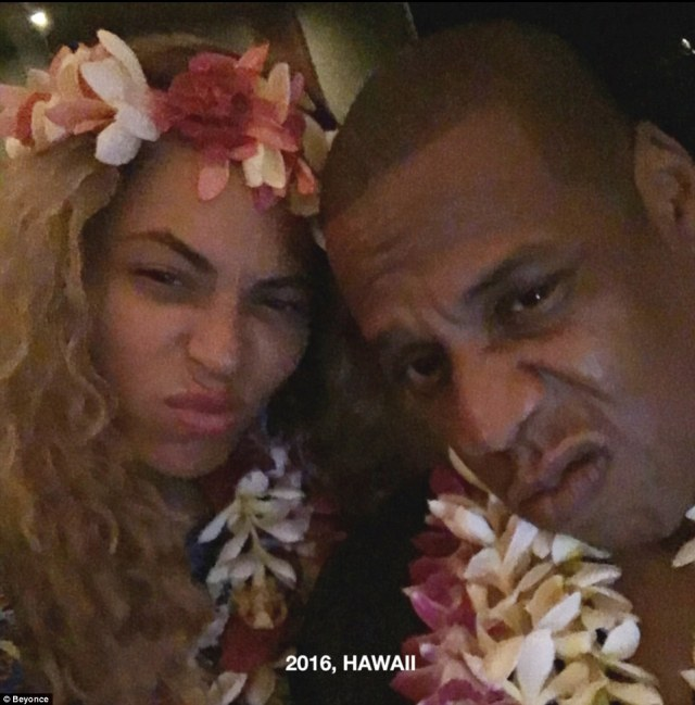 Hawaii hotness:The lavish ceremony saw Beyonce reportedly arranging to have 70,000 white dendrobium orchids flown in from Thailand. A guest of the couple told People magazine: 'It was a very emotional wedding—lots of crying—and really very spiritual'