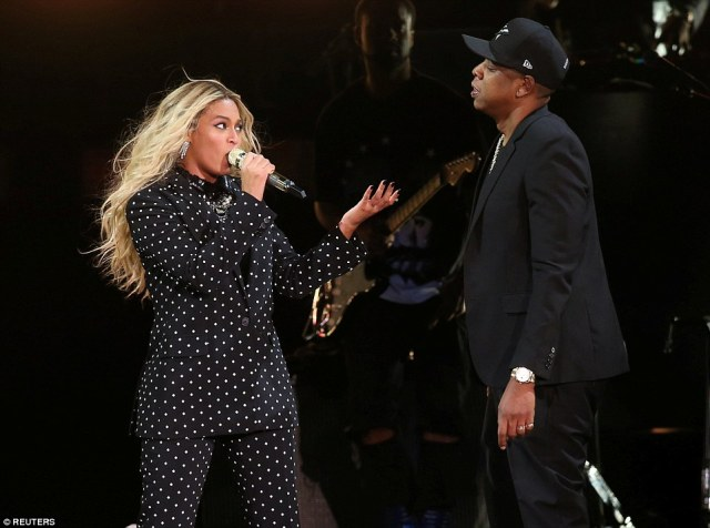 Keeping mum: The singer was last pictured on stage with Jay-Z on November 4 whileperforming at a fundraiser for Democratic U.S. presidential candidate Hillary Clinton