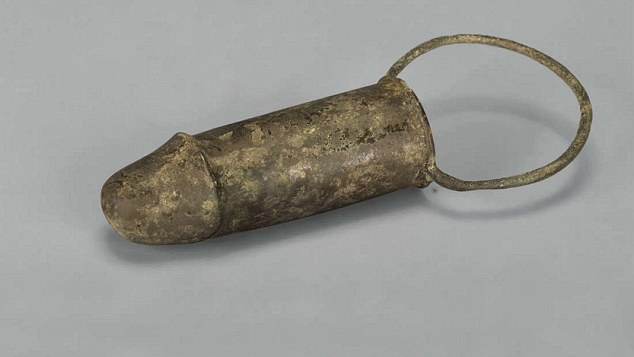 The sex toy (pictured)was discovered in Yizheng inside the tomb of an ancient aristocrat
