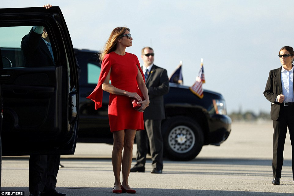 First Lady Melania Trump rejoined her husband, after being in New York during the first days of his administration