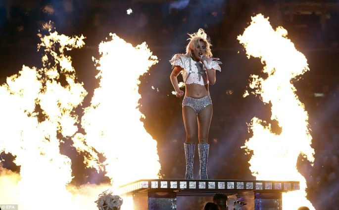 Fierce: Lady Gaga's Super Bowl half time show began with a rendition of This is Your Land and transformed into a barnstorming rendition of her greatest hits