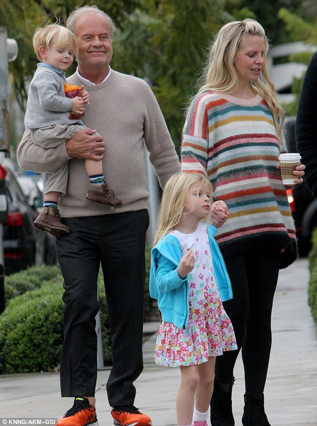Kelsey Grammer Treats Wife Kayte Walsh And Kids To Lunch