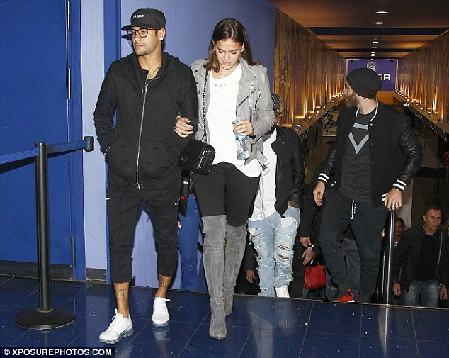Neymar was enjoying a relaxed evening of entertainment before Barca face Atletico Madrid