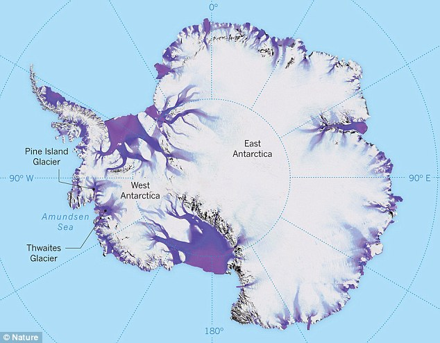 The Thwaites glacier is the size of Florida and is located in the Amundsen Sea. It is up to 4,000 meters thick and is considered a key in making projections of global sea level rise