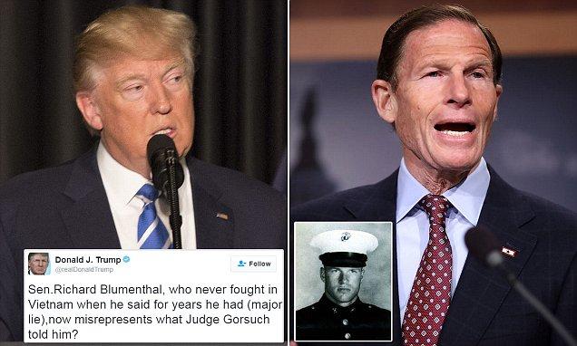 Trump attacks 'lie' of senator who revealed Gorsuch talk
