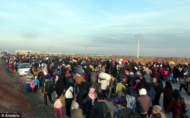 Mr Assad added he could not estimate the number of 'terrorists' among the refugees but said 'you don't need a significant number to commit atrocities' (file picture)