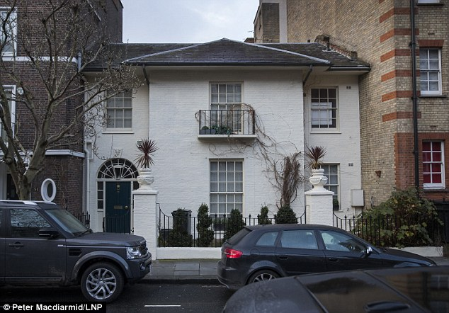 In trouble: Mr Bloom had come under fire because he had unwittingly tried to make Farage's wife and Miss Ferrari attend the same event in 2014.  Pictured: The £4million London home Farage is borrowing from a friend and sharing with his French friend