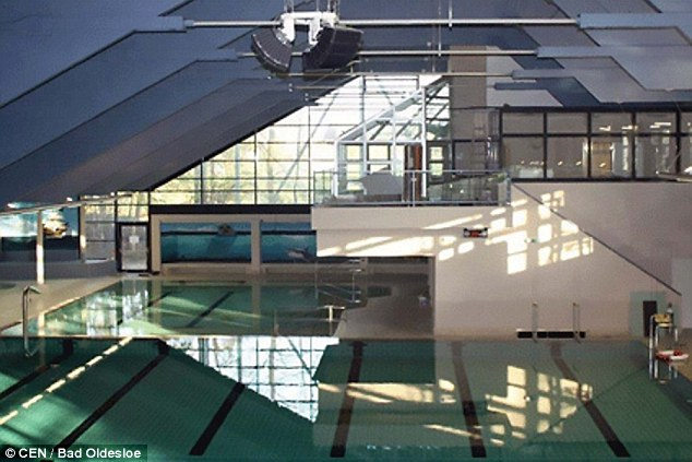 Two migrants were arrested on suspicion of molesting five girls in this pool in Bad Oldesloe
