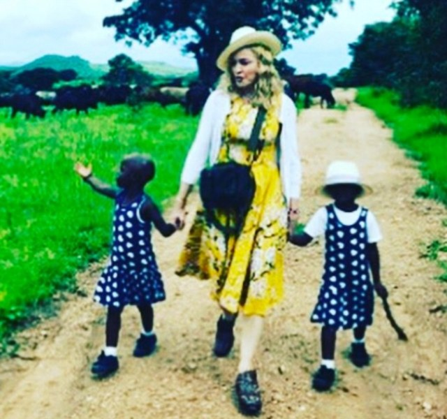 Custody of the twins: Madonna has whisked Stella and Esther away from a life of poverty in Malawi. She shared a picture on Instagram of her walking hand-in-hand with the girls as their adoption was confirmed