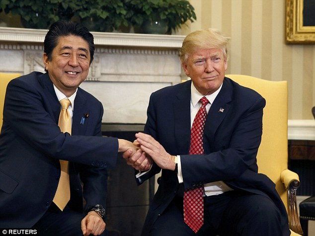 Image result for Trump and Abe