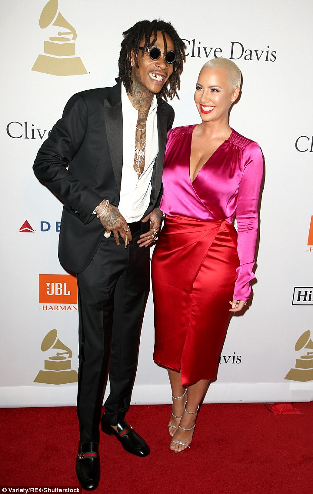 Friendly exes: The 33-year-old model and the 29-year-old rapper wed in July 2013 and Amber filed for divorce in September 2014