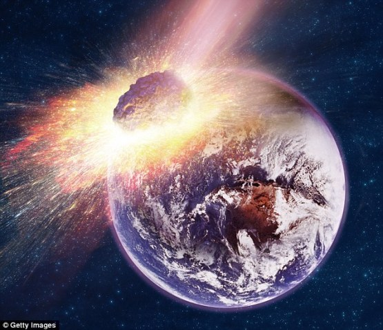 An asteroid called 2015 BN509 was caught flying past the Earth on February 6 and Nasa warned the object is 'potentially hazardous' - meaning it might one day crash into our planet
