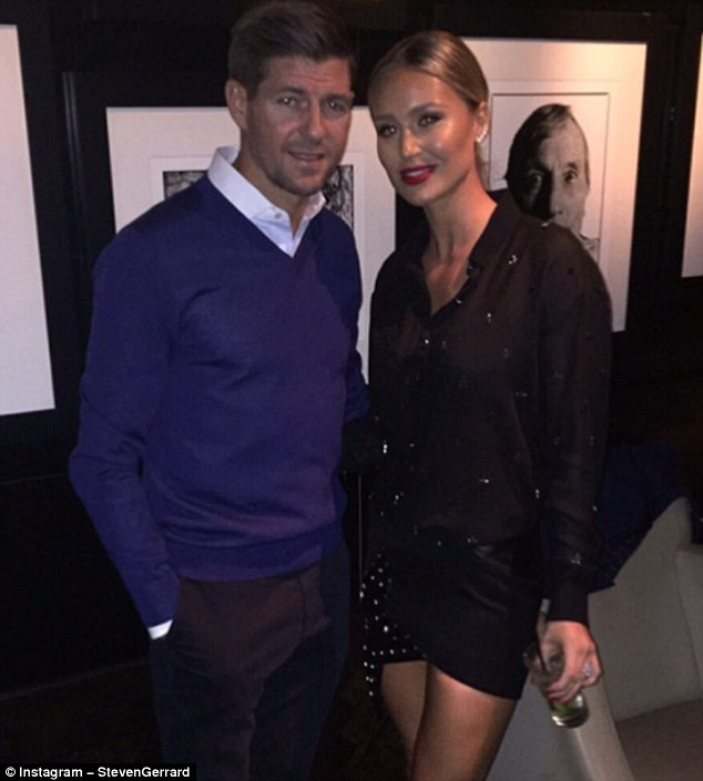 Steven Gerrard posted a picture with his wife Alex to wish her a special day