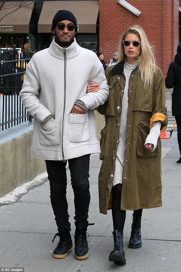 Doutzen Kroes And Husband Sunnery James Take A VDay Stroll