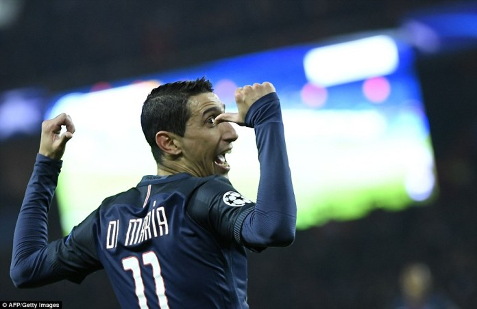 The third arrived 10 minutes after the interval, as Di Maria scored his second from outside the area before being replaced