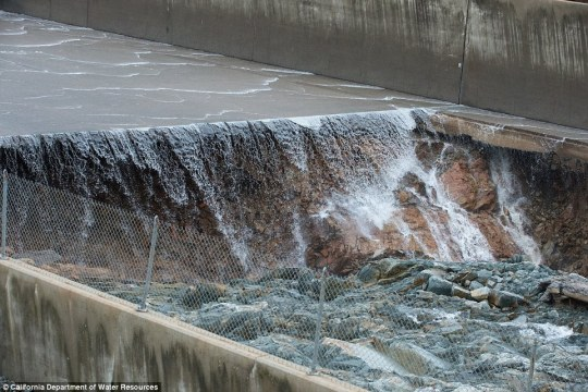 The hole was caused my years of erosion which some environmental groups predicted in 2003. The flow of water on the main spillway was halted last week for agencies to investigate it
