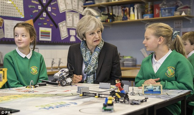 Image result for theresa may in school