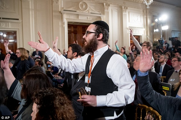 Image result for photo of trump yelling at jewish journalist