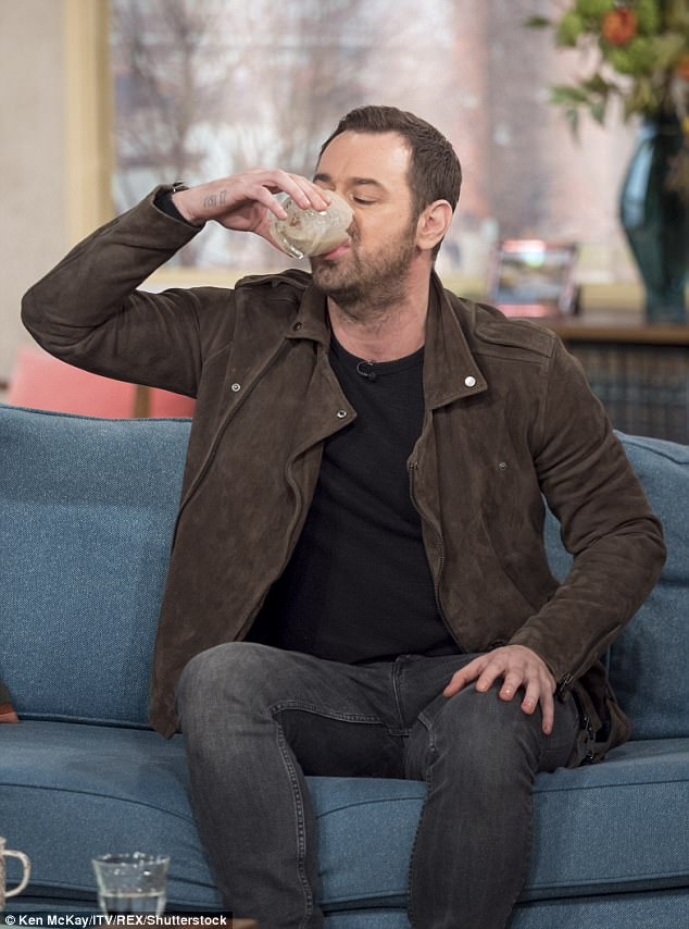 Not working too well: TV personality Danny (here on the This Morning sofa in March 2016) reportedly gave up his New Year's Resolutions after one month