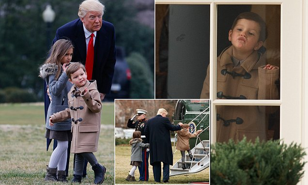 Trump spends time with Ivanka's kids Arabella and Joseph