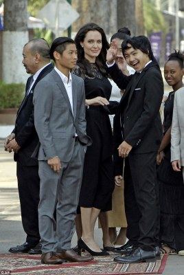 'He was the one who just called it and said he was ready and that he wanted to work on it, which he did', Angelina said of Maddox (middle)