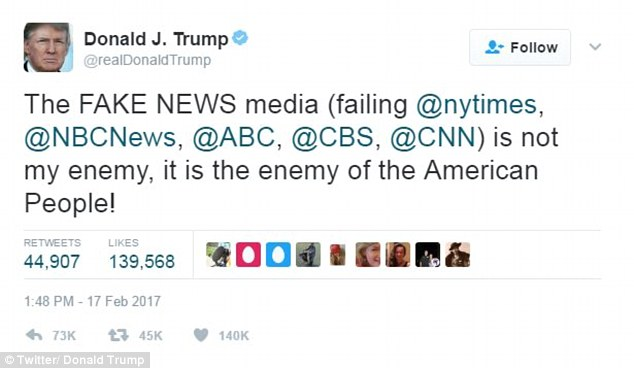 Image result for the media is the enemy trump
