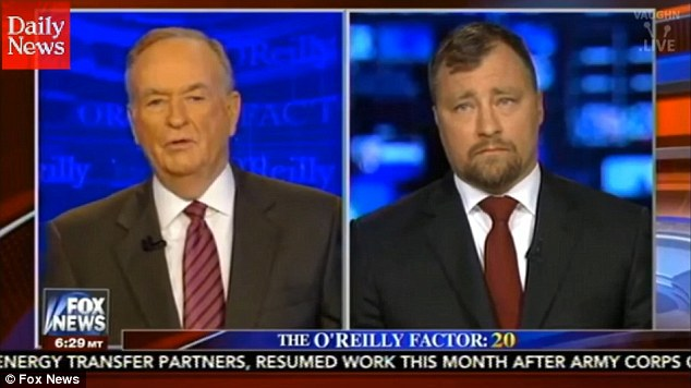 Fox News commentator Bill O'Reilly (left) convened an on-air faceoff Thursday over Swedish immigration and crime with a man identified on screen and verbally as a 'Swedish defense and national security advisor,' Nils Bildt (right)