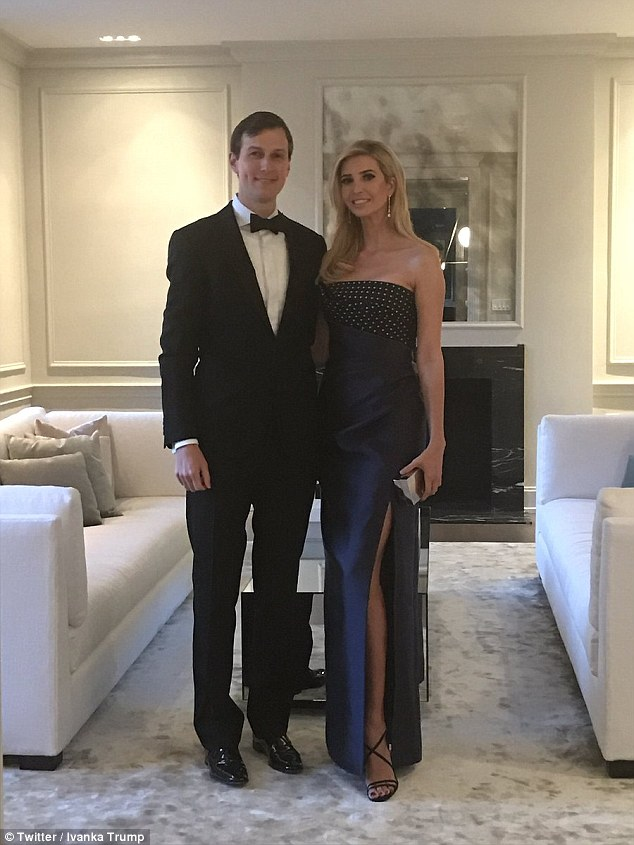 Ivanka Trump stunned in black alongside her husband Jared Kushner at the White House Governor's Ball, just hours after they enjoyed a day out watching monster trucks