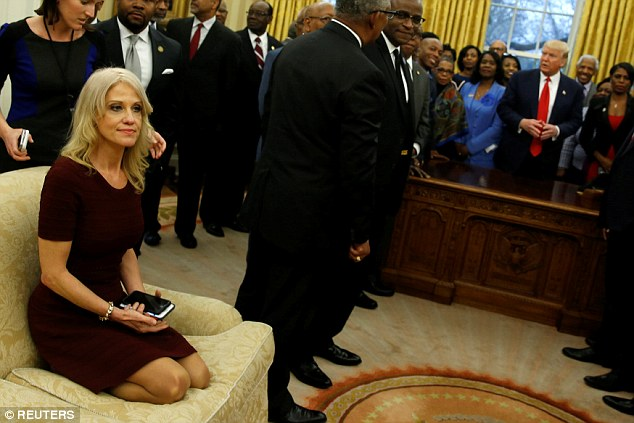 Conway seemed to be oblivious to how her actions might be perceived outside the Oval Office