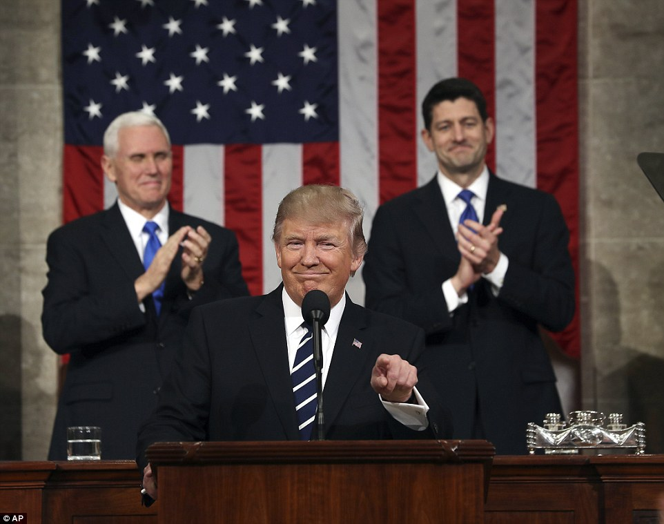 Trump used his address to appeal to Democrats and Republicans to find common ground and 'unite to advance the common good'