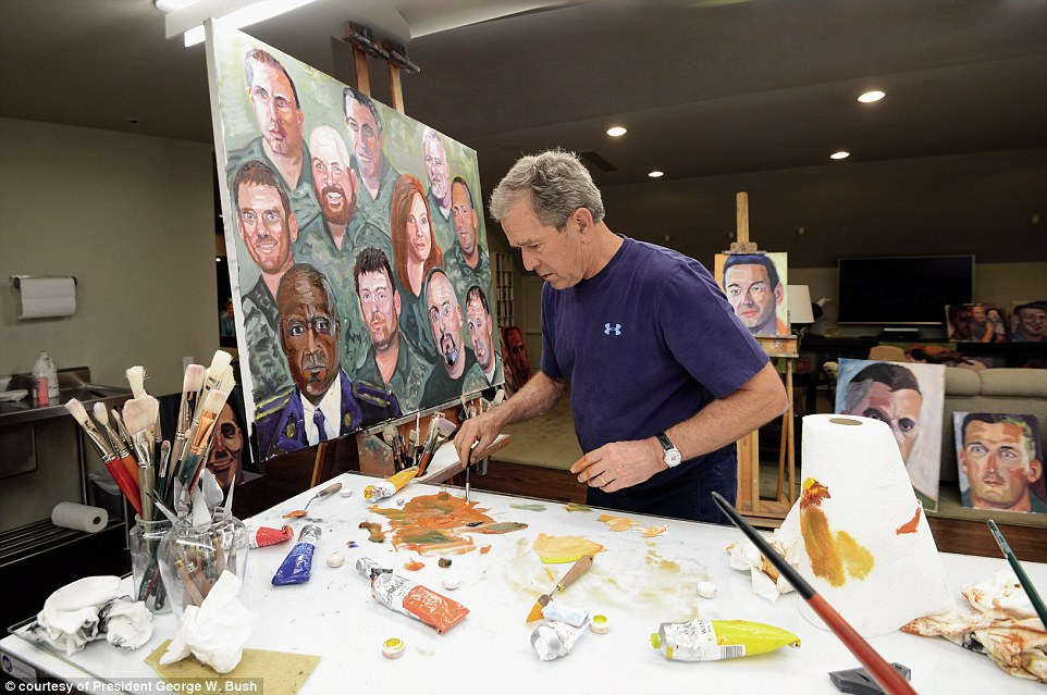 President Bush said the trickiest part of the oil painting portraits was capturing the veterans' eyes