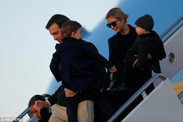 The photo was posted early afternoon, before the First Family had to fly back to Washington to resume their weekday jobs