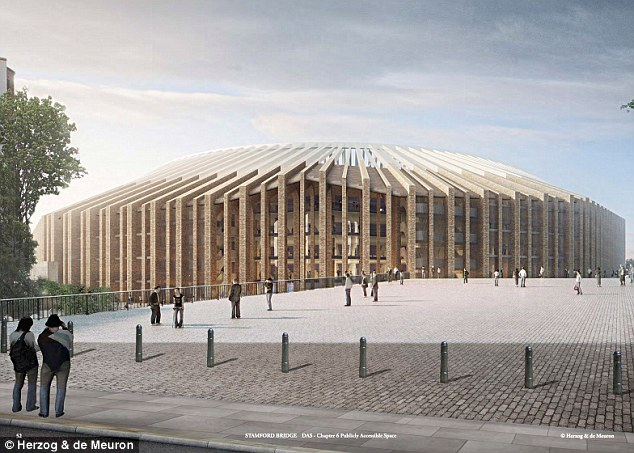 The redeveloped Stamford Bridge when it is completed in the early part of the next decade