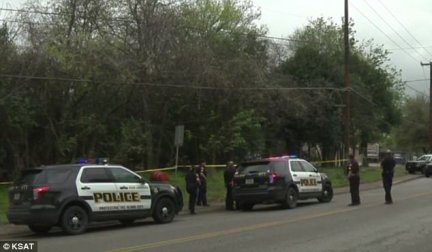 Police discovered Garcia-Ramires in the 1100 block of Babcock Road (pictured) suffering from a self-inflicted gunshot wound to the face