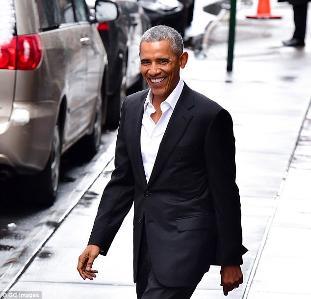 Barack Obama visited Silicon Valley for a secret meeting with tech bosses on Sunday