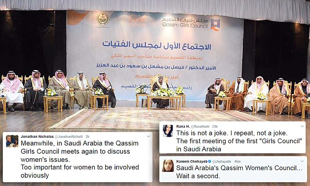 Saudi Arabia mocked for Girls' Council without girls