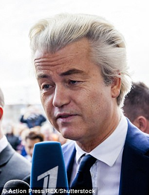 Pictured, Geert Wilders