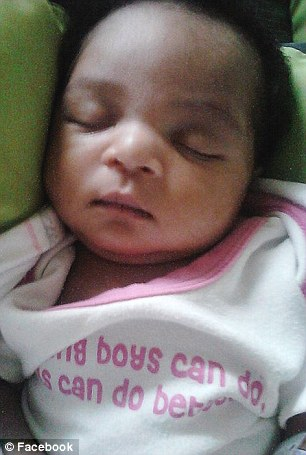 Faith (pictured prior to the abuse) was only one-month-old when she was admitted to hospital